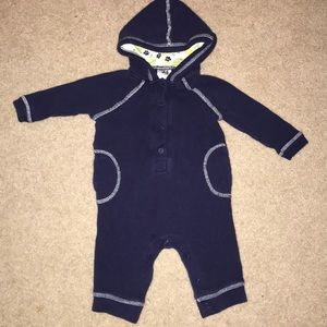 Old Navy One Piece Romper Hoodie 3-6 Month Thermal